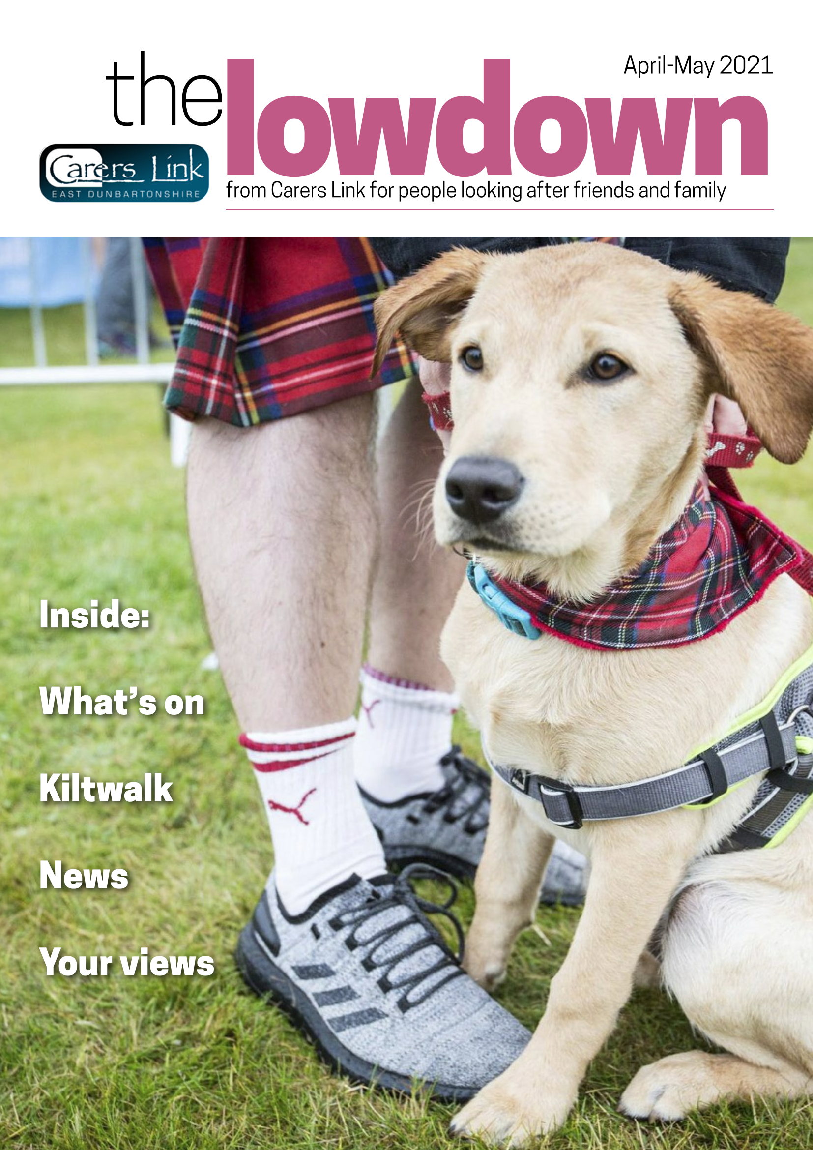 Front cover of the lowdown April 2021
