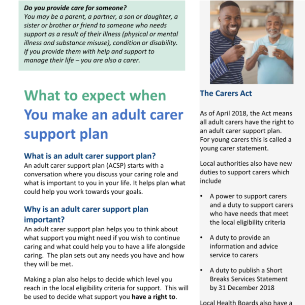 Image of What to expect when making an adult carer support plan