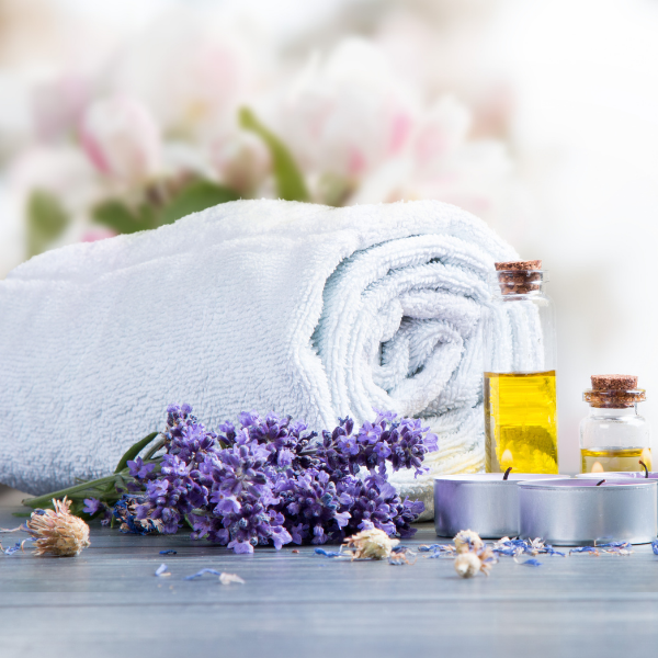 Towel and massage oil