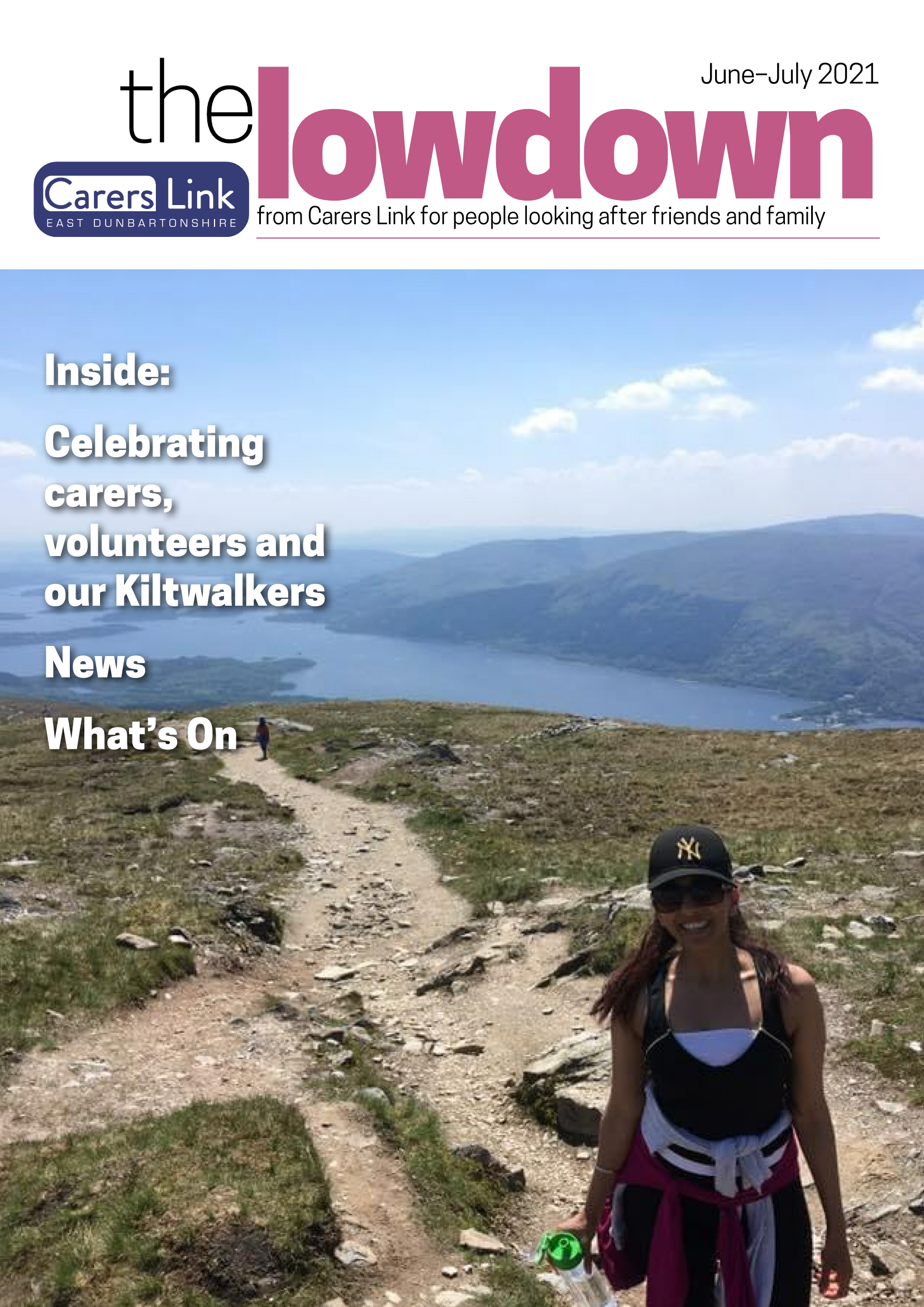 Front cover of The Lowdown Jun July 2021